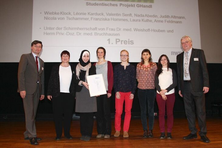 2015 Teaching Award recipients for a student project