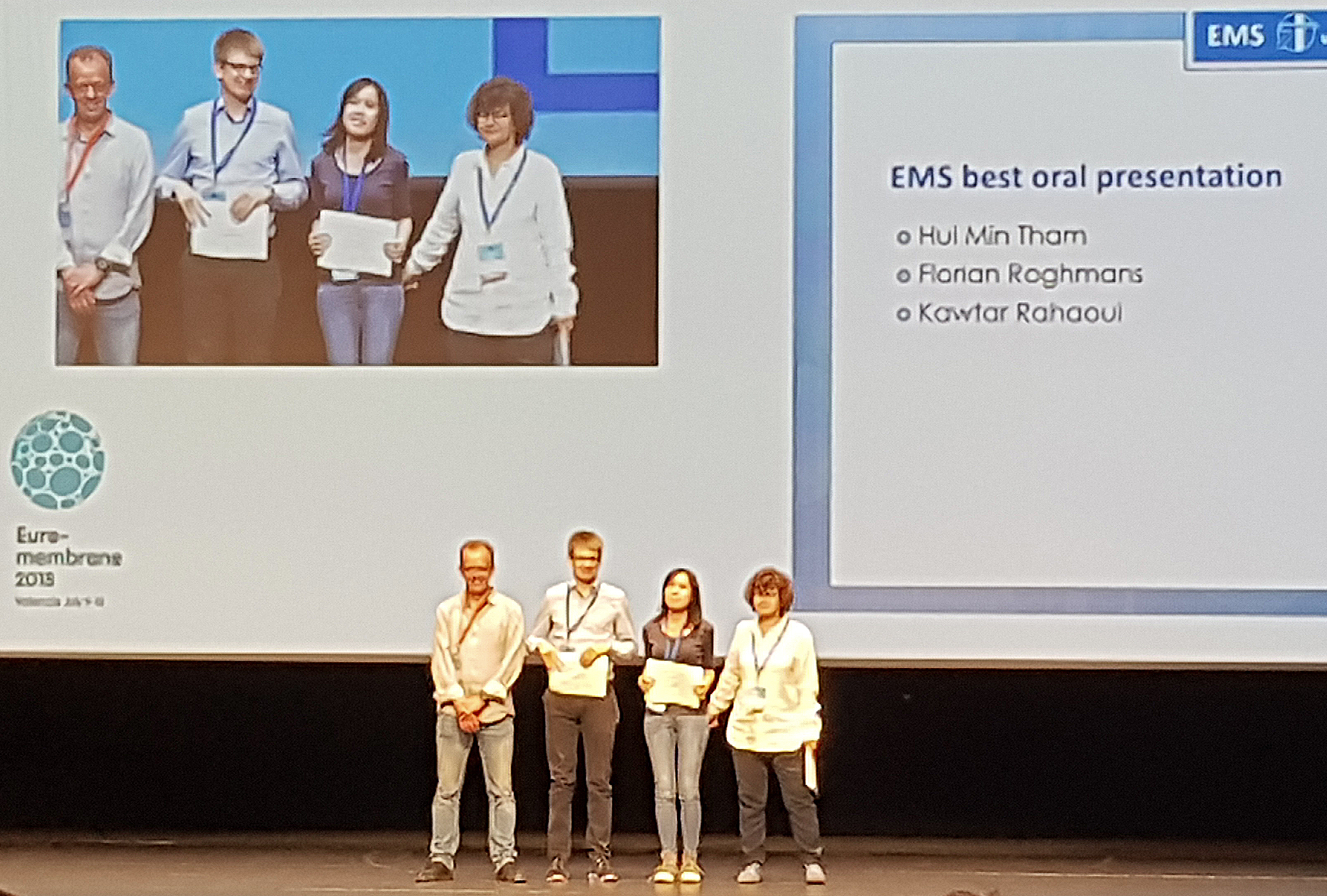 Florian Roghmans wins Best Oral Presentation Award on Euromembrane