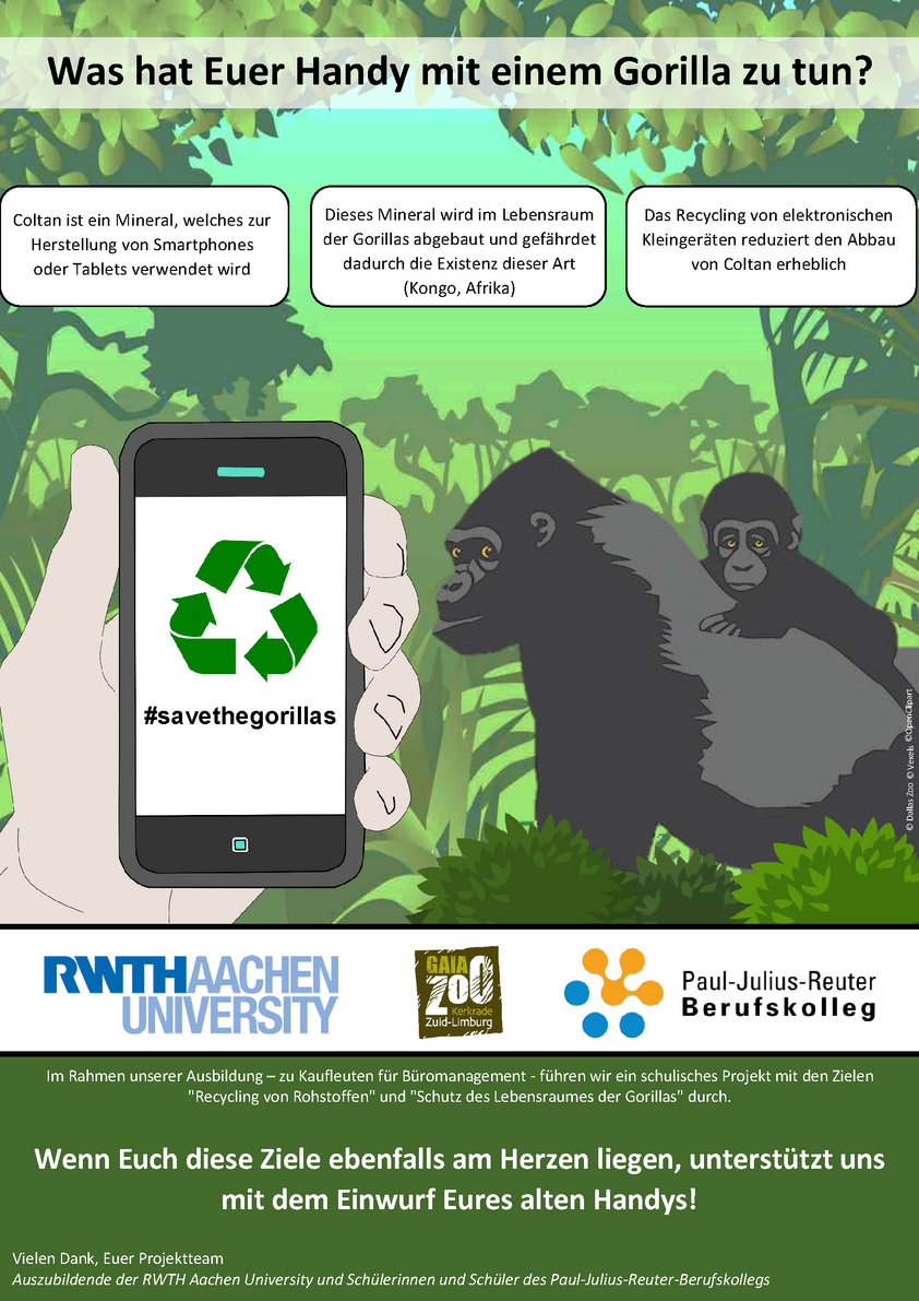 Flyer der Aktion Save the Gorillas